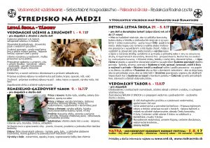 Letná škola – tábory Na Medzi – vedie Žiarislav