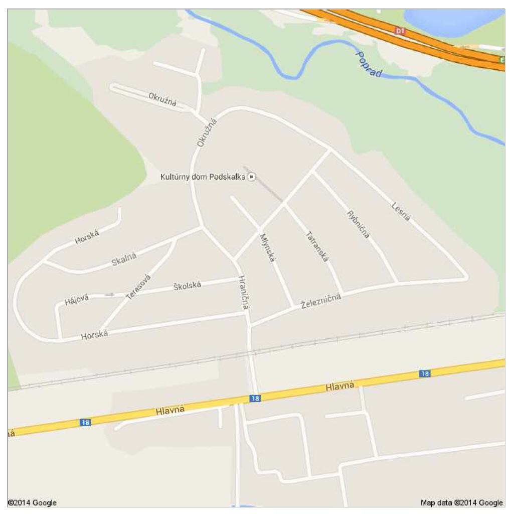 mapka Podskalka