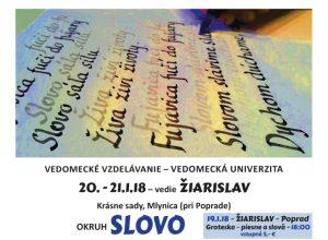 20.-21.1.18 – oblasť SLOVO – vedomecké sústredenie